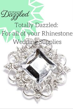 Here at totallydazzled.com you'll find the best in rhinestone products! Like this gorgeous silver and rhinestone napkin ring for only $1.25. It is also available as a slider buckle for only $0.98. Come and check us out online to view our entire catalogue. We ship within one business day and your satisfaction is guaranteed! #dazzle #wedding #host #bling