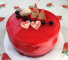 Brigittes Tortendesign: Mirror Glaze cake / Spiegelglanz Torte
