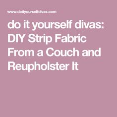 Diy upholstery cleaner coupon crazy girl ideas for the house do it yourself divas diy strip fabric from a couch and reupholster it solutioingenieria Gallery