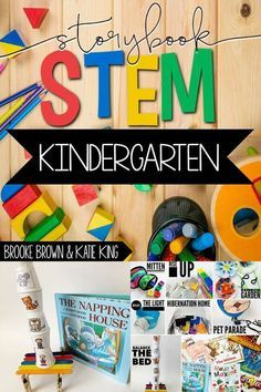 Kindergarten Storybook STEM provides teachers with weekly all-in-one units to to supplement favorite Kindergarten Stem, Kindergarten Lesson Plans, Homeschool Kindergarten, English Kindergarten, Kindergarten Science Activities, Kindergarten Projects, Preschool, Daycare Curriculum, Math Literacy