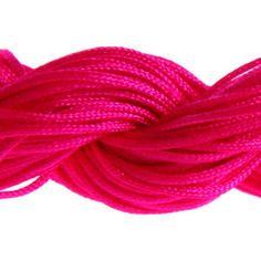 Lot 5m cordon nylon spécial shamballa fuchsia 1mm