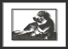 Papercut Art Good Dog Relaxing A4 size. by NineFingerJo on Etsy, £39.00