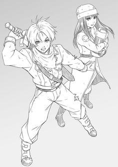 Future Trunks and Mai Sketch by MaHenBu on DeviantArt