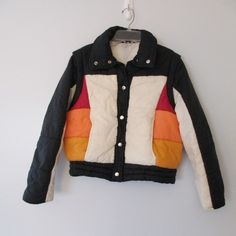 Vintage 70s Puffer Ski Jacket Convertible Vest Women's by WayWeVintage on Etsy