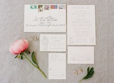 In love with this beautiful wedding stationery | Photography by @krystalkast | Fearrington Real Wedding