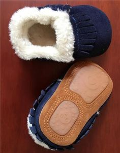 New style Winter with fur boots Genuine Leather Baby girls shoes handmade  Toddler hard sole first walkers baby Suede Shoes 8f8537ce294f