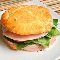 "Cloud Bread | It's bread.. thats not bread And only 3 ingredients! Love it!! If you're watching your carbs, this is a perfect way to be able to enjoy sandwiches, burgers, even pulled pork without the guilt!! ""This stuff is like little pillows of goodnes"