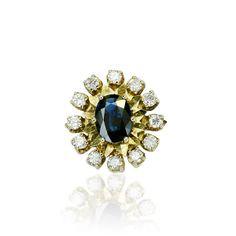 Exklusiv heißt nicht alltäglich! Und dies ist auch die Wirkung dieses Saphir-Diamant-Rings mit 1,618ct Saphir und 0,470ct Diamanten Gebrauchter Schmuck First  & Second hand kaufen oder verkaufen durch Gutachter und Sachverständigen. Aus Erschaft und Nachlass, Sammlung von Privat hochwertiger gebrauchter Schmuck im Angebot  Klass...
