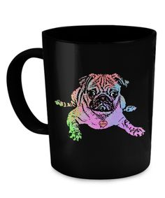 - Description - Mug Details - Shipping Details This Girl is Protected by her Pug. Two sided print pug mug 11oz mug Dishwasher and microwave safe Black mugs are a slightly softer black than it appears