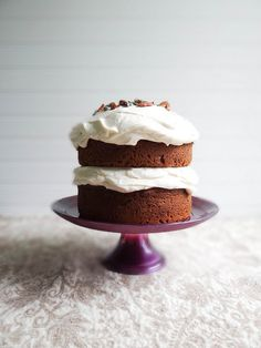 Pumpkin Cake + Maple Cream Cheese Frosting | Sunday Morning Banana ...