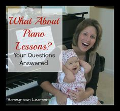 What About PianoLessons? - Your Questions Answered #musiced #homeschool