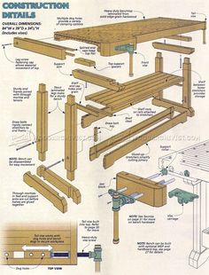 1913 Traditional Workbench Plans Workshop Solutions