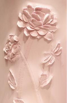 quenalbertini: Leather panel by Helen Amy Murray Couleur Rose Pastel, Pastel Pink, Blush Pink, Quilt Patterns Free, Free Pattern, Pale Dogwood, Leather Art, Motif Floral, Everything Pink