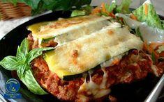 لازانیا بادمجان و قارچ Healthy Zucchini Lasagna, Low Carb Lasagna, Zucchini Lasagne, Pasta Lasagna, Veggie Lasagna, Recipe Zucchini, Eggplant Lasagna, Lasagna Noodles, Zucchini Casserole