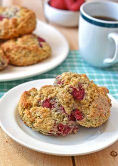 Raspberry Oatmeal Scones