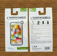 Cell Phone Screen Protectors Champion Shield phone screen protector 2pk for Galaxy S5. Anti-glare, scratch resistant. Easily removed without chemicals. Other