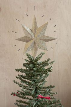 DIY Glitter Paper Christmas Star