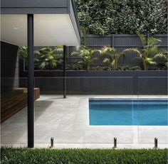 Glass fence around pool Pool Paving, Swimming Pool Landscaping, Swimming Pool Designs, Glass Pool Fencing, Pool Fence, Glass Fence, Glass Roof, Fence Around Pool, Exterior Wall Cladding
