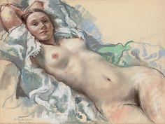 Zinaida Serebriakova (1884 –1967) Reclining Nude, 1930