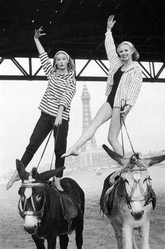 Donkey ride Blackpool Beach, Just Girl Things, Lingerie Models, Vintage Images, British Seaside, British Summer, Vintage Fashion Photography, Norman, Retro Fashion