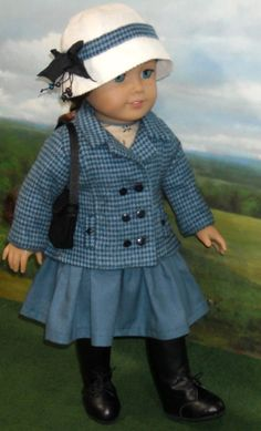 Dress with Jacket and Hat  for AG dolls by SugarloafDollClothes on Etsy  $69.00