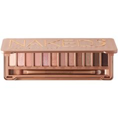 Urban Decay Naked3 ($54) ❤ liked on Polyvore featuring beauty products, makeup, eye makeup, eyeshadow, beauty, fillers, eyes, blending brush, urban decay eye shadow and palette eyeshadow