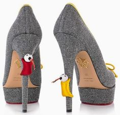 Charlotte Olympia Grey Pumps Shanghai Express Fall 2014 #Shoes #Heels | cynthia reccord
