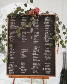 Gorgeous wedding seating chart on our letter board!