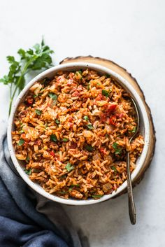 Vegan Jollof Rice - an easy one-pot dinner that's ready in less than 45 minutes!