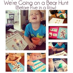 We're Going on a Bear Hunt Lesson plans #BeforeFiveinARow #FIAR