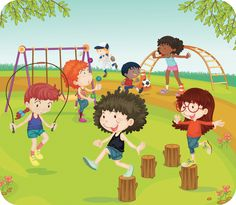 Royalty Free Clipart Image of Children in a Playground Free Clipart Images, Royalty Free Clipart, Royalty Free Images, Summer Clipart, Free Android Games, Children Images, Street Art Graffiti, Worlds Of Fun, Kids Playing
