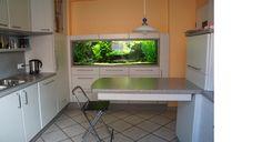 Schränke: Küche mit Aquarium
