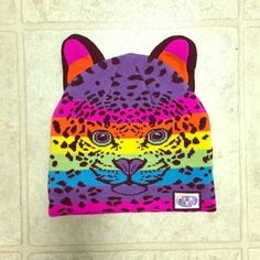 Lisa Frank Rainbow Leopard Beanie An essential for any 90s child! Fabulous rainbow Lisa Frank beanie with leopard print and face. Three dimensional ears make this even more adorable! In excellent condition, no flaws. Lisa Frank Accessories Hats