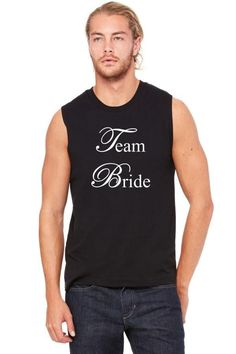 team bride white Muscle Tank