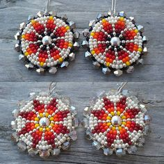 Valarie's Beaded Creations @valariesbeadedcreations Instagram Profile | Picdeer Beaded Earrings Native, Native Beadwork, Native American Beadwork, Seed Bead Earrings, Round Earrings, Beaded Jewelry, Crochet Earrings, Loom Beading, Beading Patterns