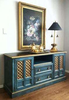 How to Turn a Broken Dresser into a Stylish Media Cabinet