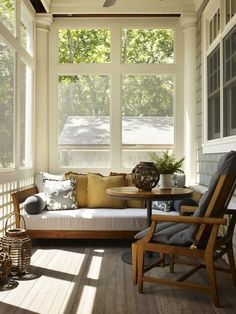 sunny, screened porch.  I want to hang out here.