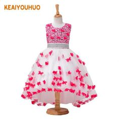 2017 New Summer girls dress girls sleeveless dresses Princess Party Kids clothes Children Bithday tutu baby girls dress