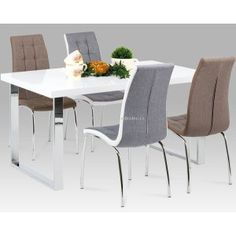 Jídelní židle DCL-420 GREY2, COF2 a jídelní stůl A880 WT
