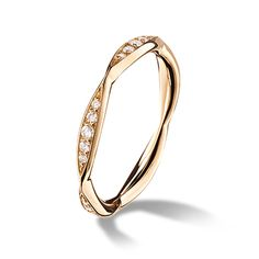 Yellow gold and diamond ring
