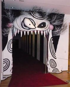 back door entrancemuseum of modern art the tim burton part - Tim Burton Halloween Decorations
