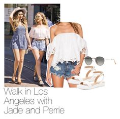 """Walk in Los Angeles with Jade and Perrie"" by rosana-storyofmylife on Polyvore"