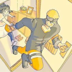 """Naruto-kun you forgot your lunch"" !!.....""Oh arigato Hina-hime!!!"" #Naruhina"