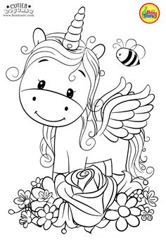 Cuties Coloring Pages for Kids - Free Preschool Printables - Slatkice Bojanke - Cute Animal Coloring Books by BonTon TV Unicorn Coloring Pages, Halloween Coloring Pages, Cute Coloring Pages, Cartoon Coloring Pages, Disney Coloring Pages, Christmas Coloring Pages, Animal Coloring Pages, Free Printable Coloring Pages, Free Coloring