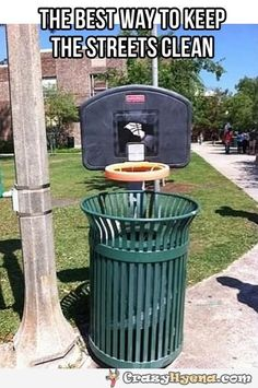 Keep the streets clean while hitting  three pointers