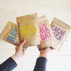 KRAFT + COLOR = LOVE #kraftpackaging #packaging #kraft curated by Copious Bags™