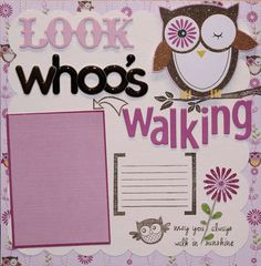 """Look whoo's Walking"".  What a great idea and I love the glittery owl!"