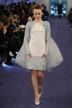 Chanel wedding dress (with sleeves!) #weddings...Recreate to fit your style. Love the details