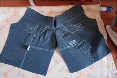 Сегодня я предлагаю сшить джинсовые брючки для Вихтелят.