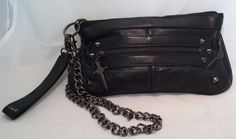 Lip Service To Hell in a Handbag Clutch Punk pinup rockabilly leather #LipService #Clutch